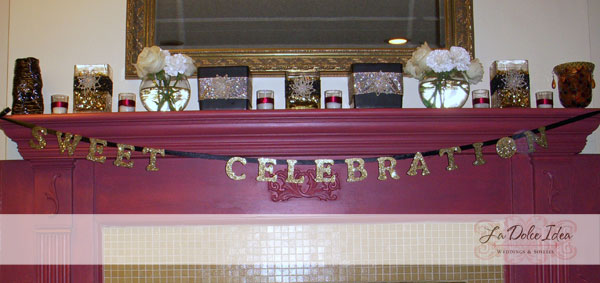 Gold glitter banner by La Dolce Idea