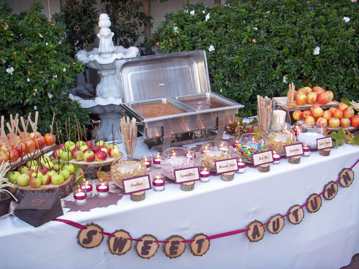 The Sweet Table Boutique Caramel Apple Station