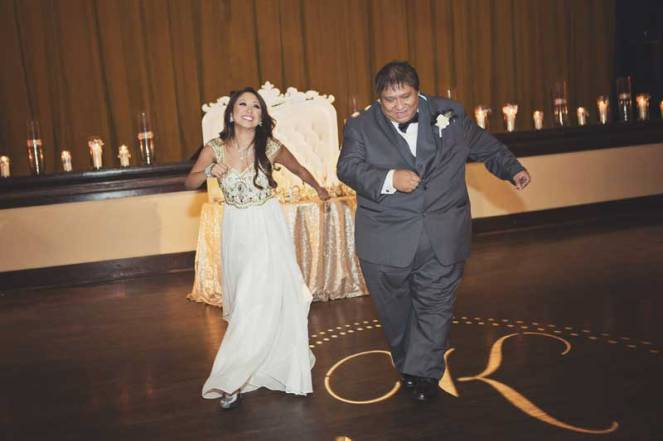 father / daughter dance at wedding receptin the prado balboa park san diego