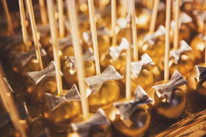 la dolce idea dessert table the prado san diego roaring twenties great gatsby art deco black gold cake pops bow tie wedding reception