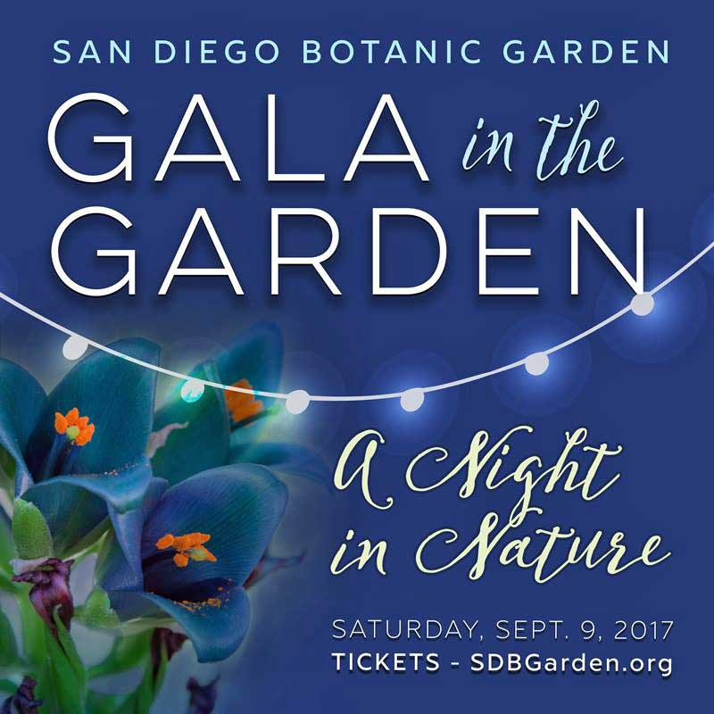 gala in the garden at the san diego botanic garden in encinitas on september 9 with world-class cuisine and beverages, music, entertainment, dancing, silent auction - the best charity non-profit event in san diego county organized by sabrina cadini with la dolce idea weddings & soirees