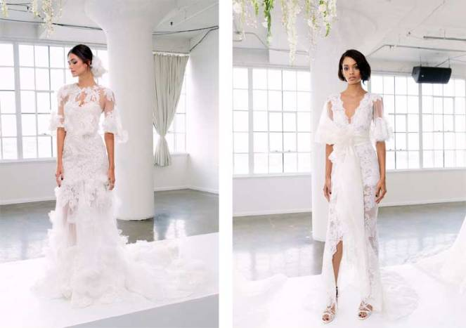 la dolce idea weddings soirees san diego new york bridal fashion week spring 2018 bride wedding dresses attire