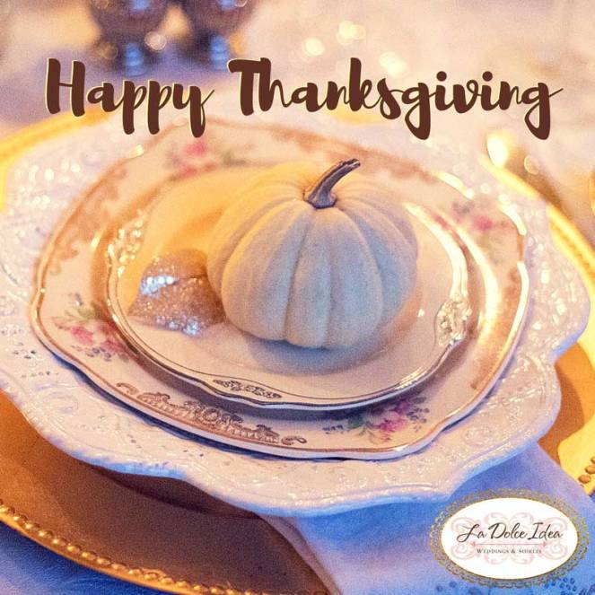 sabrina cadini la dolce idea weddings soirees event planning coordination happy thanksgiving holiday greetings card thank you grateful
